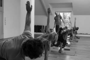 yoga noir et blanc